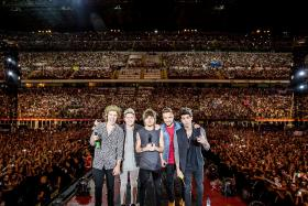 Boy-band sensation One Direction were among the big winners that failed to turn up to collect their prizes at one of Europe's top music events on Sunday, after they scooped three MTV Europe Music Awards in Glasgow.