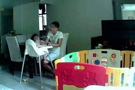 INVASIVE: Screen grabs from web camera footage on Insecam.com show children with family members or maids.