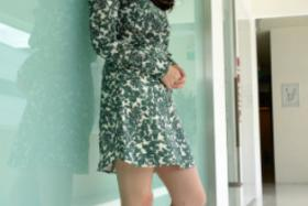 Svelte Fann Wong shed over 17kg - three months after giving birth to baby Zed.