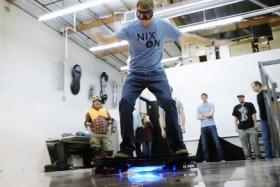 Tony Hawk rides the world's first real hoverboard.
