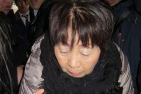 Picture taken on March 13, 2014 shows 67-year-old Japanese woman Chisako Kakehi, arrested on suspicion of poisoning her husband with cyanide