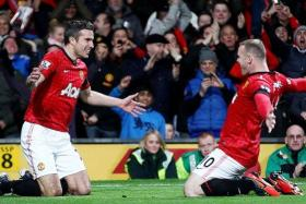 TIME TO DELIVER: Robin van Persie (above, left) and Wayne Rooney (above) have only scored three goals apiece this season.