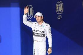 """""""It was a messy lap from Lewis, which was not expected because he had a very good lap in the second qualifying. I won't tell them anything any more. They are in their own little bubble and concentrating on the race. We should leave them in peace now to concentrate on the race."""" - Mercedes team chief Toto Wolff, looking ahead to today's world title duel between his drivers Nico Rosberg (right) and Lewis Hamilton"""
