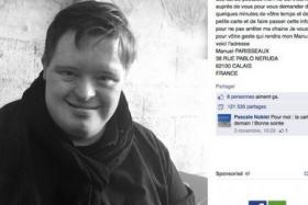 His mother posted a message on Facebook asking people to write a birthday card to him. The family has been overwhelmed after 30,000 cards were sent to their home.