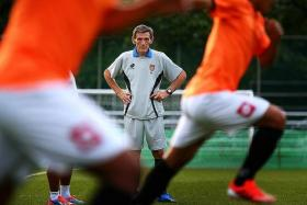 FAMILIAR FACES: Radojko Avramovic, Singapore's longest serving coach, will take on the Lions with his new side Myanmar tomorrow.