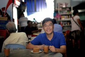OPTIMISTIC: Mr Avin Tan is trying to lead a normal life despite being HIV positive.
