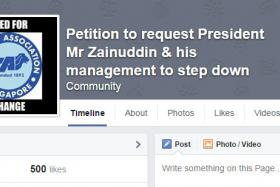 Disgruntled Singapore football fans have started a petition and Facebook page lobbying for FAS president Zainudin Nordin to step down from his post.