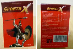 Sparta X is an illegal sexual enhancement product.
