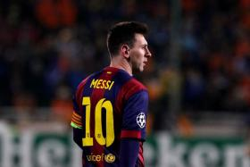 Barcelona footballer Lionel Messi.