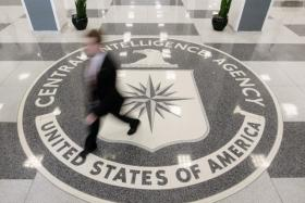 File photo dated August 14, 2008  shows the lobby of the CIA Headquarters building in McLean, Virginia.