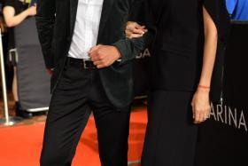 Allan Wu and Nadiya Hutagalung at the 19th Annual Asian Television Awards on December 11.