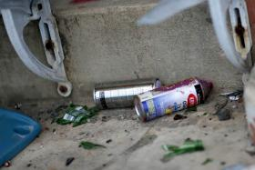 File photo of spray paint cans.