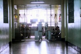 File photo of inner gates of Bilibid, Philippines' biggest jail.