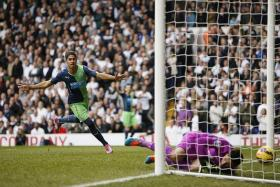 REPEAT HOPE: Newcastle manager Alan Pardew will be delighted if his team can conjure up a victory over Spurs tomorrow morning, similar to their last meeting on Oct 26 when Ayoze Perez (above) scored the winner in the 2-1 win.