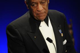 This March 16, 2009 file photo shows US entertainer Bill Cosby at the Jackie Robinson Foundation annual Awards Dinner at the Waldorf Astoria Hotel in New York.
