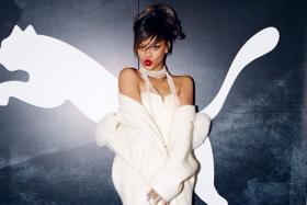 Pop star Rihanna will be the face of sports brand Puma's women's training category.