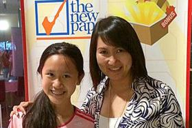 WINNERS: Mrs Jessica Chow with her daughter Ashley.