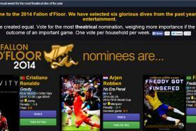 Screenshot of the Fallon d'Floor 2014 website.