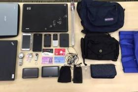 The Singapore Police Force posted a photo showing items seized from a 45-year-old man arrested for housebreaking.