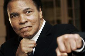 Ali has been hospitalized with pneumonia and is expected to recover because the illness was caught early.