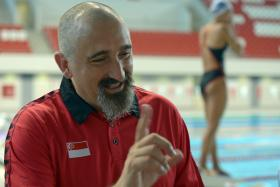 IN CHARGE: New national swimming coach Sergio Lopez (above) and his assistant Gary Tan will oversee the junior national development squad when they start work next month.