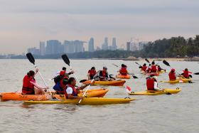 Kayaking is an activity best done with a paddle.