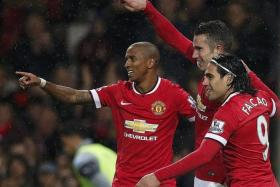 LIGHTWEIGHT: With Ashley Young (far left) playing as a left back, Man United will be hard-pressed to beat the big guns.