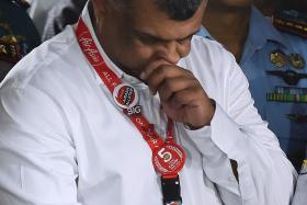 Group chief executive officer of AirAsia Tony Fernandes at the Juanda International Airport in Surabaya on Dec 30, 2014.
