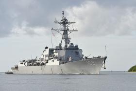 The USS Sampson (above) will join the search for AirAsia QZ8501