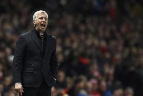 SPECULATION: Alan Pardew (above) has been strongly linked with the vacant post at Selhurst Park following the sacking of Neil Warnock.