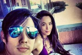 ROMANCE: American-born Taiwanese singer-actor Van Ness Wu and his wife, Ms Arissa Cheo, a Singaporean jewellery designer, during their honeymoon in Phuket.