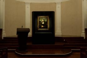 """The """"Earlier Mona Lisa"""" currently on display at the Arts house"""