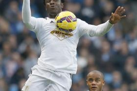 Manchester City are reportedly closing in on a £30 million deal for Swansea striker Wilfried Bony.