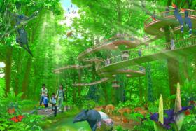 An artist impression (not finalised) of the proposed Mandai nature project.
