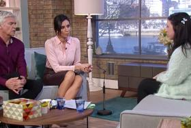 Sarah Tetley being interviewed on the UK TV show, This Morning.
