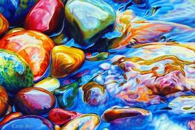 COPY ART: Metamorphosis (above) by Ester Roi was copied and was being sold at Onepiece Painting.