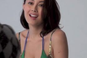 "Hard sell: Candy Yuen, who was afraid that people will not watch her movie after one of her nude scenes was leaked before its premiere said that her scenes will be a lot ""clearer"" in the cinema."