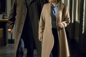 Mulder (David Duchovny) and Scully from The X-Files.