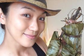 Joanne Peh, happy to go sans make-up on Instagram.