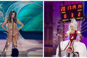 After checking out Miss Canada's Ice Hockey Costume, do you find that Miss Universe Singapore Rathi Menon's costume isn't so bad after all?
