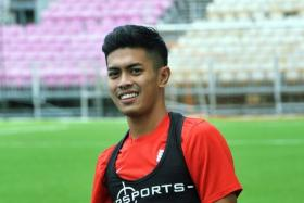 Newly-signed LionsXII defender Wahyudi Wahid for the 2015 Malaysian Super League (MSL) season had his head stamped on while playing in a friendly.