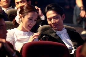 Joanne Peh and Qi Yuwu at the Star Awards 2013.