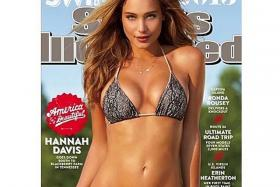 Hannah Davis in her first Sports Illustrated Swimsuit cover.