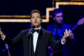 K-pop star?: Michael Buble did a cover of Big Bang's Taeyang's Eyes, Nose, Lips and uploaded the video on his Facebook page.  Many of his fans are now requesting for more K-pop from him.