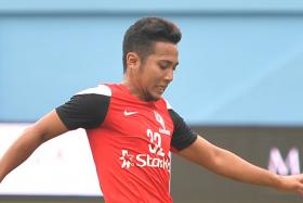TWO CAN TANGO: Khairul Amri believes he and Sahil Suhaimi (above) can play in the same team as they can switch positions at will.