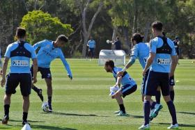 """""""Every day, I'm learning something new in training. I Feel like I'm learning about football all over again."""" - Safuwan baharudin (above, second from far left) on his stint with Melbourne City"""