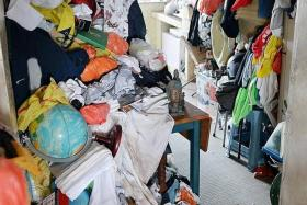SPRUCED UP: The flat was packed with trash, sparking hygiene and health concerns.
