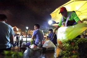 HARD WORK: Mr Keria Peli can collect 50 bags of trash in just one night of cleaning Read Bridge and its vicinity.