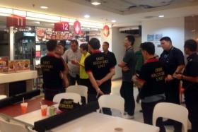 Debt collectors from Double Ace Associates caused a ruckus at a Chinese soup stall in the Food Junction foodcourt at Funan DigitaLife Mall on Jan 15.