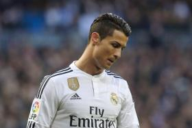 Real Madrid's Cristiano Ronaldo in the match against Deportivo Coruna at Santiago Bernabeu stadium in Madrid, February 14, 2015.